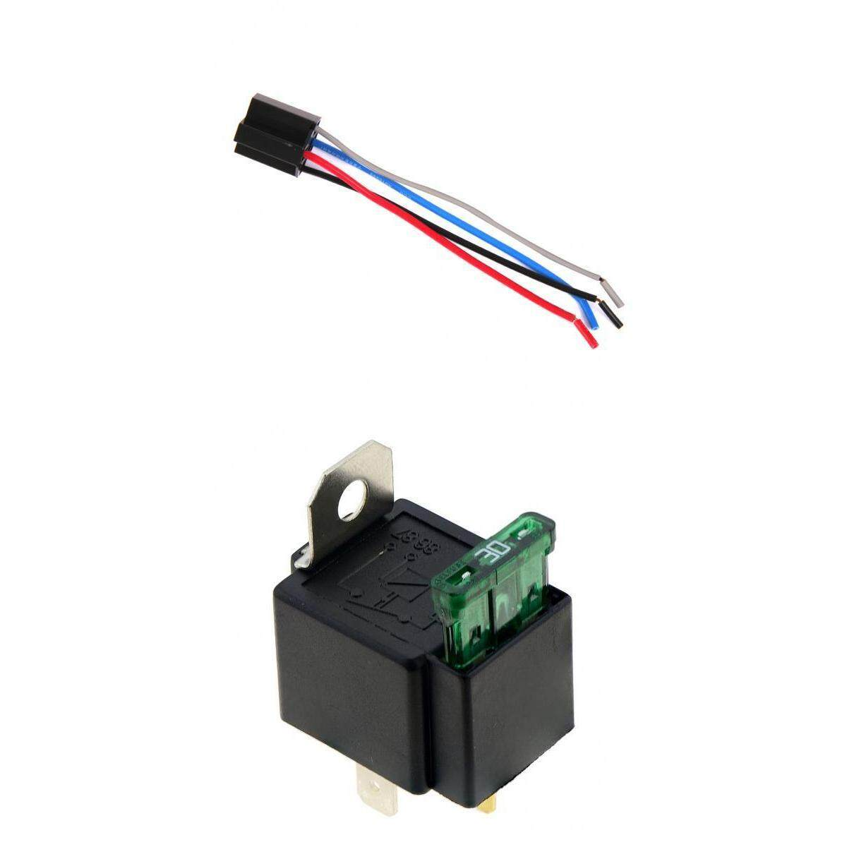Features 4pcs Auto Car Waterproof 12v 50a 4pin Amp Relay W Wires 4 Pin And Socket Miracle Shining Automotive Normally Open 30a Fused With Wire Harness