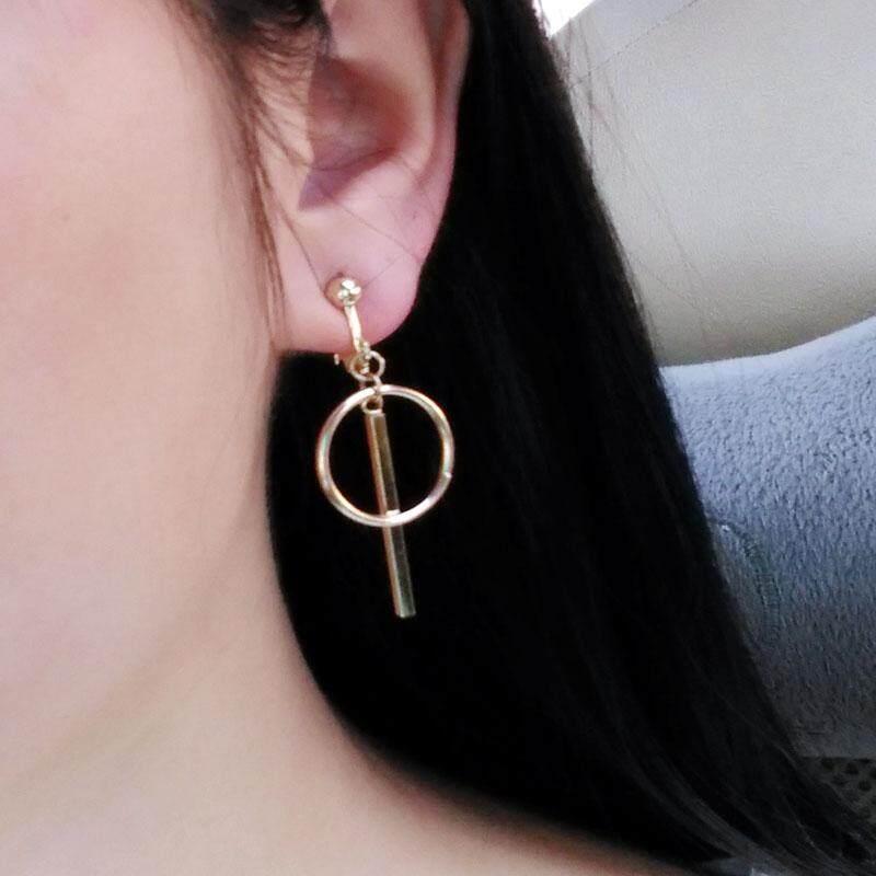 Sweet Japanese and Korean style simple circle earrings