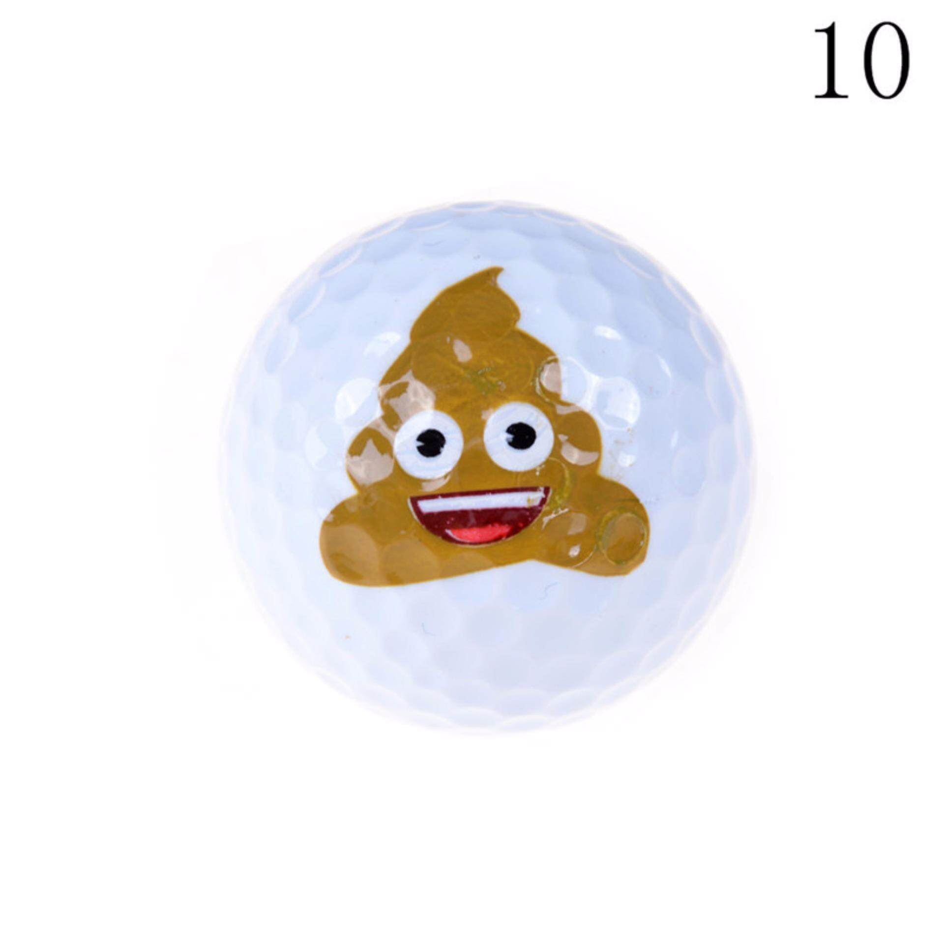 Emoji Novelty Practice Golf Balls Toy Kids Gifts For Outdoor Or Field Playing  Type:10.