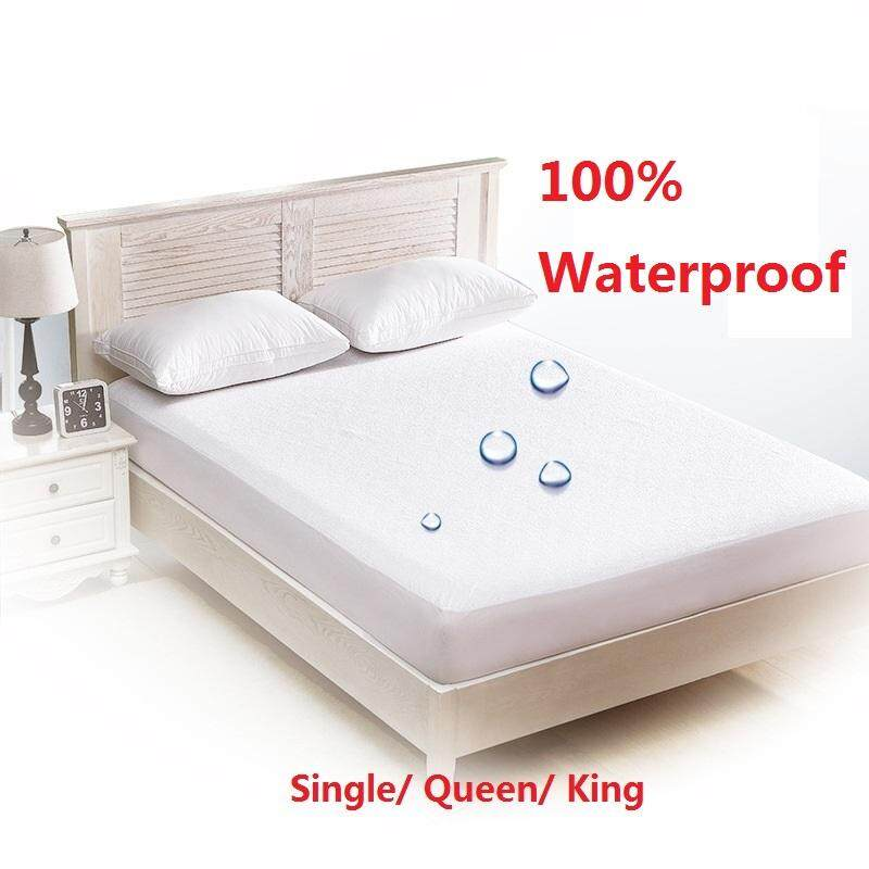 Single/Queen/King Size Mattress Protector, 100% Waterproof Mattress Cover  Breathable/