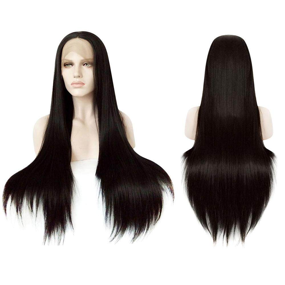 FULL LACE FRONT NATURAL STRAIGHT BLACK WIGS SYNTHETIC HAIR FOR BLACK WOMEN