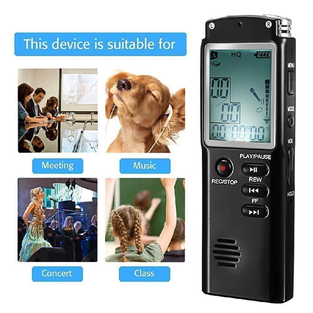 16 GB Asli USB Perekam Suara Profesional 96 Jam Audio Perekam Suara Digital Dictaphone dengan WAV, MP3 Pemutar-Internasional
