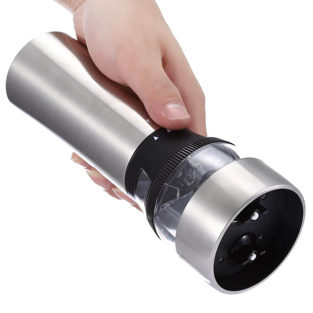 2 IN 1 ELECTRIC STAINLESS STEEL PEPPER SALT MILL GRINDER KITCHEN ACCESSORY