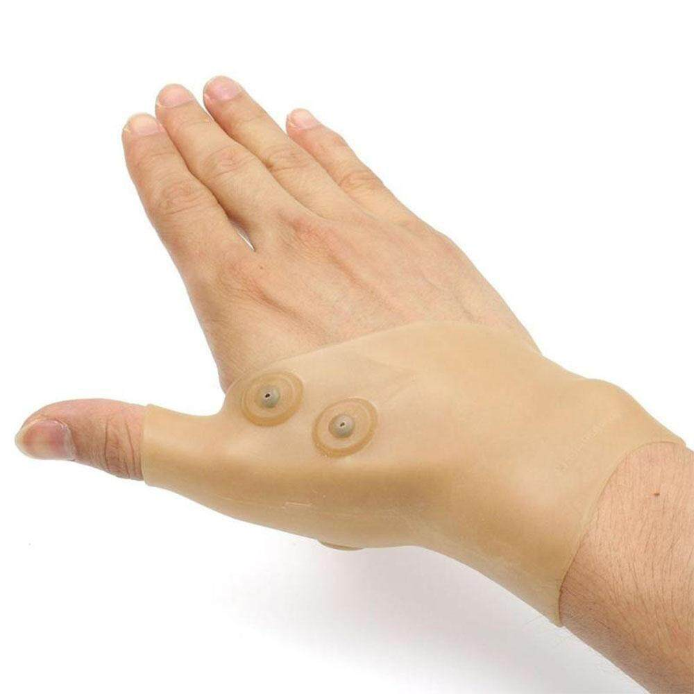 Magnetic Therapy Wrist Hand Thumb Support Gloves Silicone Arthritis Pressure Corrector Massage Pain Relief Gloves for Adults Philippines