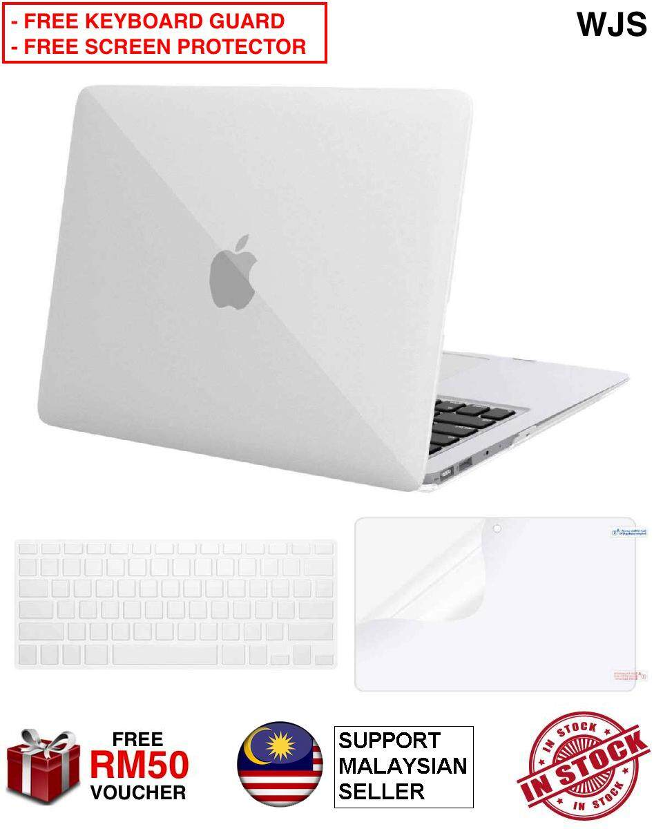(FREE KEYBOARD GUARD & SCREEN PROTECTOR) Macbook Air New 13.3  A1369 A1466 Frosted Thick Hard Case Cover Matte Keyboard Guard Keyboard Protector Water-proof Anti-spill LCD Guard LCD Protector Screen Guard Screen Protector (FREE RM 50 VOUCHER)