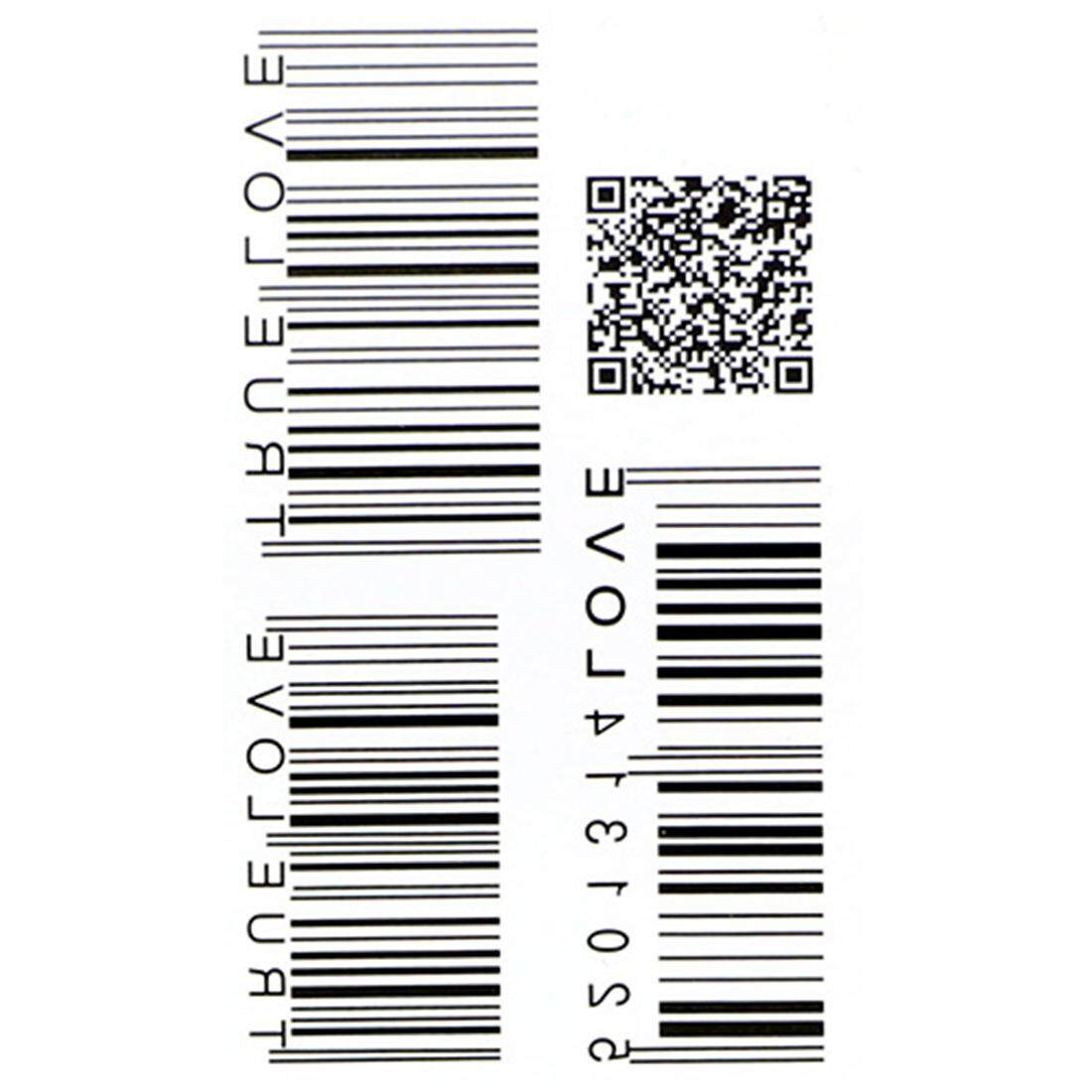 Bathing Accessories Brands Bath And Body On Sale Tatto Temporary Sticker Hb577 Waterproof Tattoo Barcode Water Transfer Fake Unisex Intl