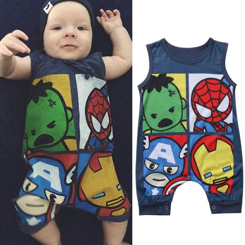e1942f0cf334 Newborn Baby Boys Girls Cotton Sleeveless Romper Jumpsuit Bodysuit Outfits  Clothes - intl