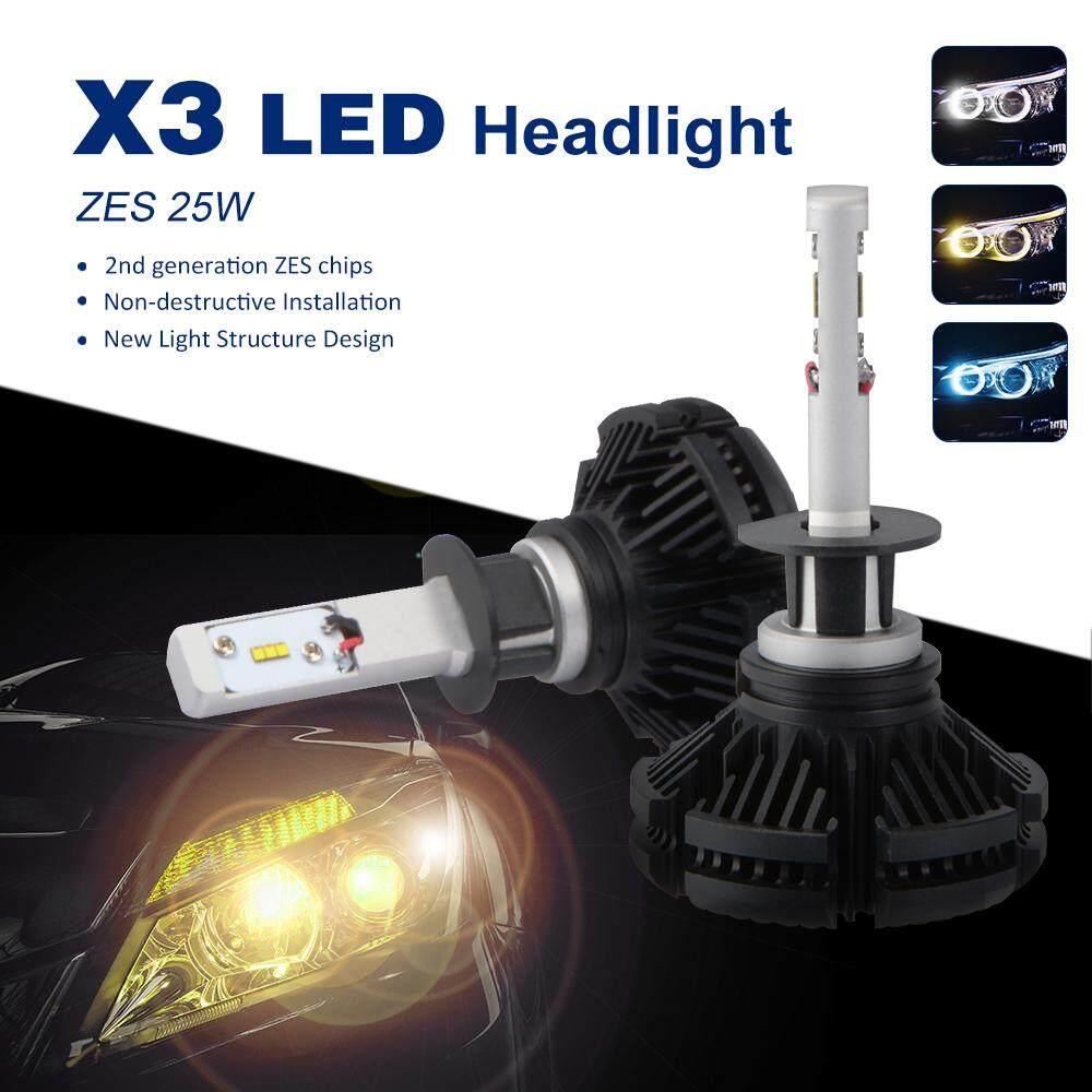 Detail Gambar H1 LED Lampu Depan Mobil Bohlam 50 W Kabut Lampu Mengemudi Lampu Hai/Lo Sorotan 6000LM LD1275-Internasional Terbaru