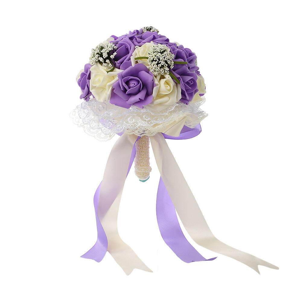 Buket Pengantin Aksesoris Pengiring Pengantin Bunga Buatan Pesta Pernikahan  Persediaan-Internasional - 2 . 2a08c6efdd