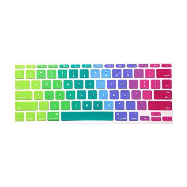 HRH Dazzle Rainbow Keyboard Cover Silicone Skin for MacBook Air 11 11 6  Inch A1465 A1370 US keyboard Layout - intl Singapore