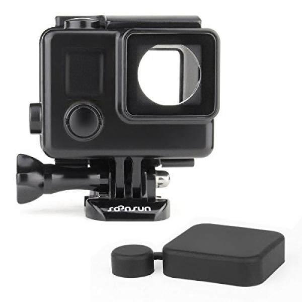 Soonsun Blackout Kasus Perumahan dengan Ukuran Standar LCD Sentuh Backdoor untuk GoPro Hero4 Hero3 Pahlawan 4 3 Hitam dan Perak kamera Aksi-Internasional
