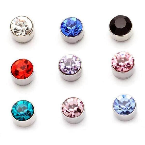 Akhir Musim Gugur Magnet Anting-Anting Anting Putra Korea Modis Minimalis Tidak Pierced Berlian Telinga Klip Anting-Anting Perhiasan Beberapa Pasang mahasiswa Pria Wanita Anting-Anting Merah (Hitam) -Internasional