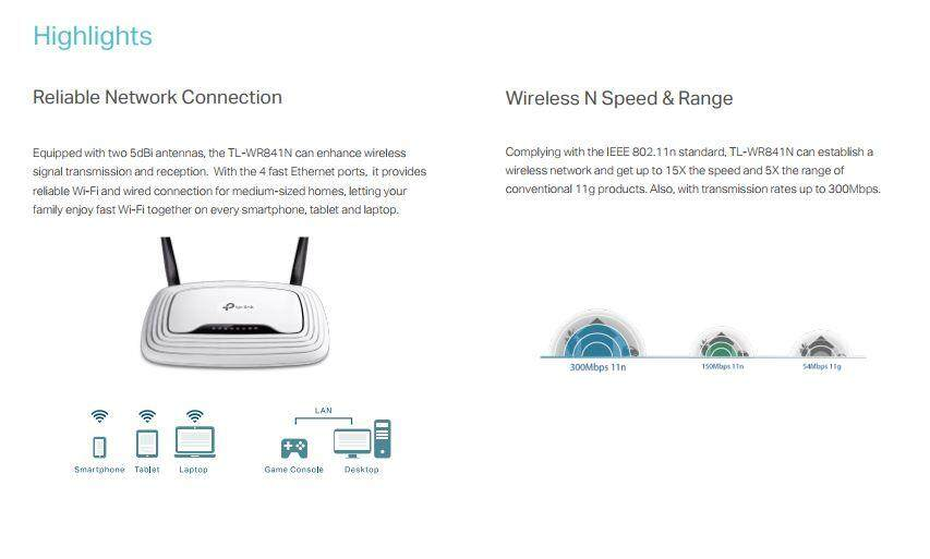 Tp link tl wr841n 300mbps wireless router lazada specifications of tp link tl wr841n 300mbps wireless router greentooth Images