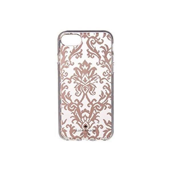 Kate Spade Baru York Wanita Tapestry Kasus Telepon untuk IPHONE 7/iPhone 8 Mawar Emas Satu Ukuran-Internasional