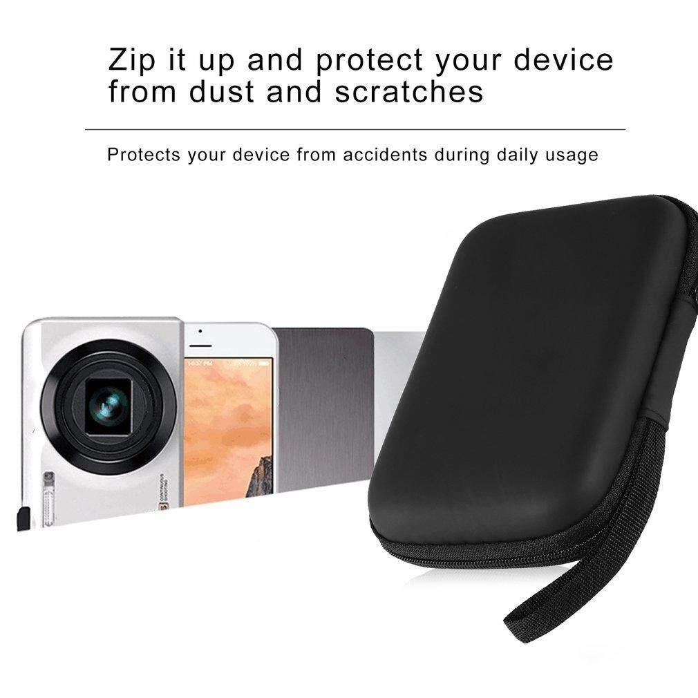Hình ảnh Yika Black Hard Nylon Carry Bag Compartments Case Cover for 2.5