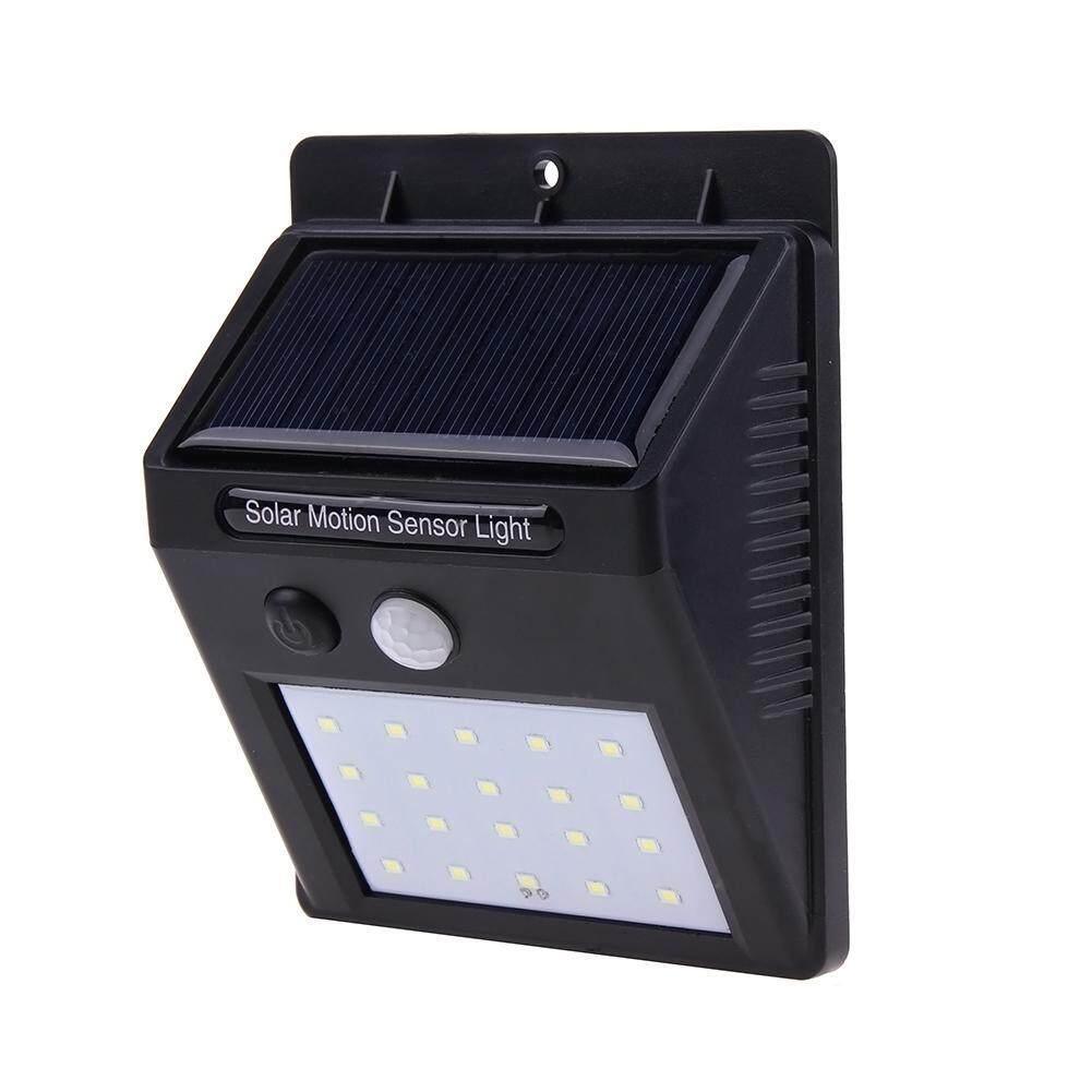 Cek Harga 30w Pir Motion Sensor Led Flood Light Ip65 Warm White Security With 20led Solar Power Wall