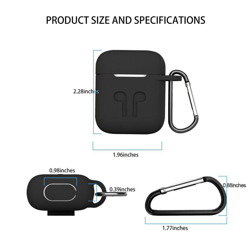 ... Teekeer Soft Silicone Cover For Apple Airpods Waterproof Shockproof Protector Case Sleeve Pouch For AirPods Earphone