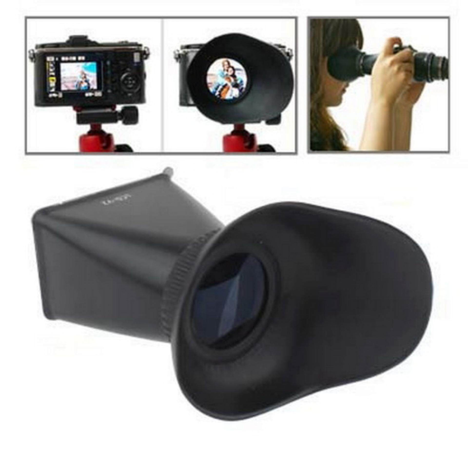 2.8X 3 inch LCD Viewfinder for Canon 550D / Nikon D90 (V2)(Black) - intl