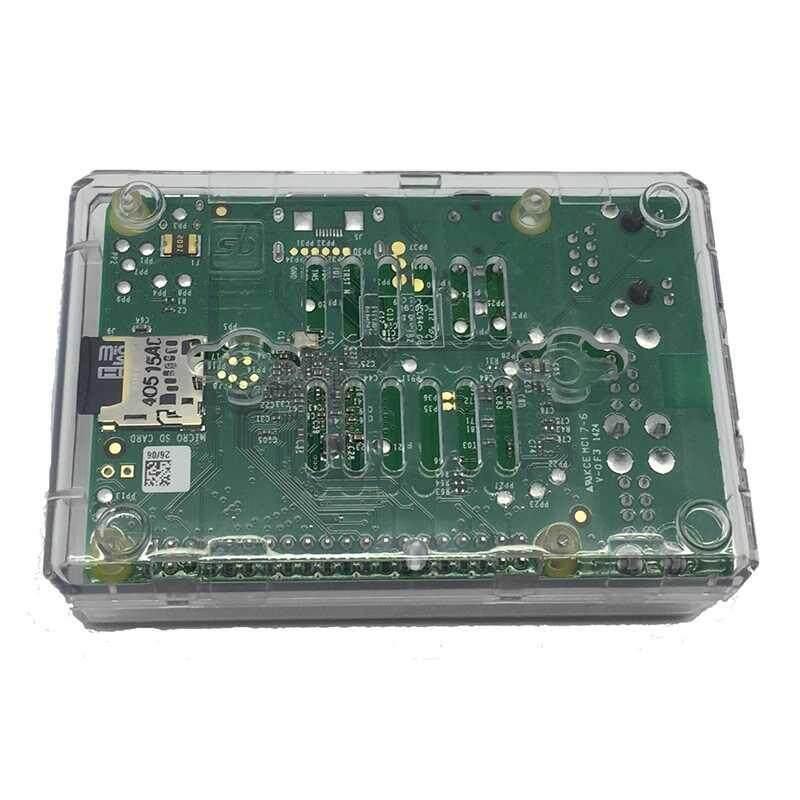 Hình ảnh Siêu vi tính Raspberrry Pi3 Model B 1GB RAM 1.2 Ghz CPU với vỏ nhựa và heat sink kit