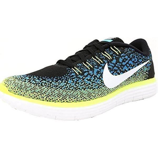 Nike RN JARAK Hitam Putih Biru Lagoon Volt 827115-014 (10.5)-Internasional