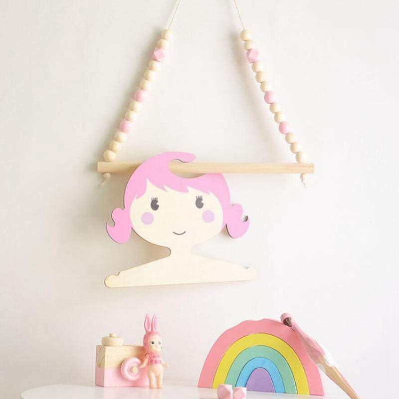 BolehDeals Decorative Round Ball Baby Childrens Room Wall Hanging Shelf Hanger Pink - intl