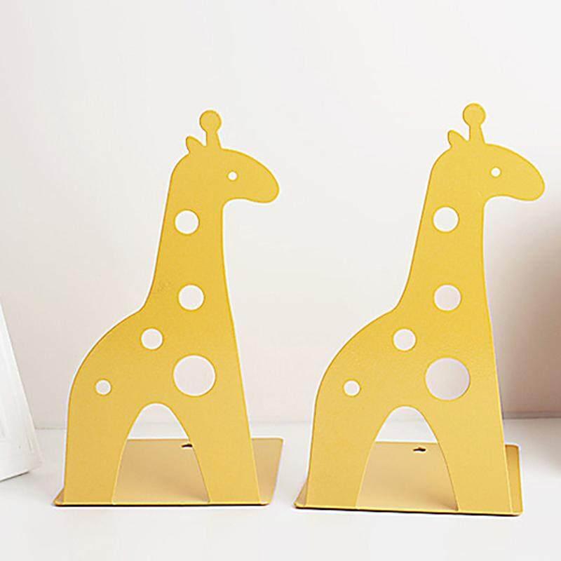 Giraffe elephant tinplate book creative book shelves # Yellow - intl