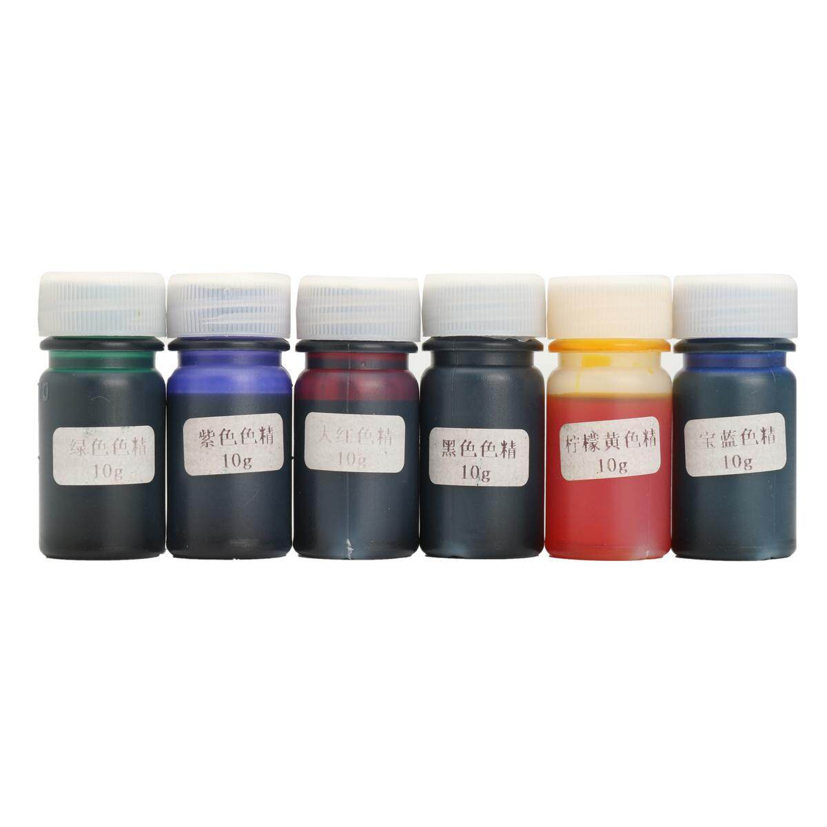 6pcs 10g Liquid Silicone Resin Pigment Dye Mix Color Colorant Diy Art Crafts By Moonbeam.