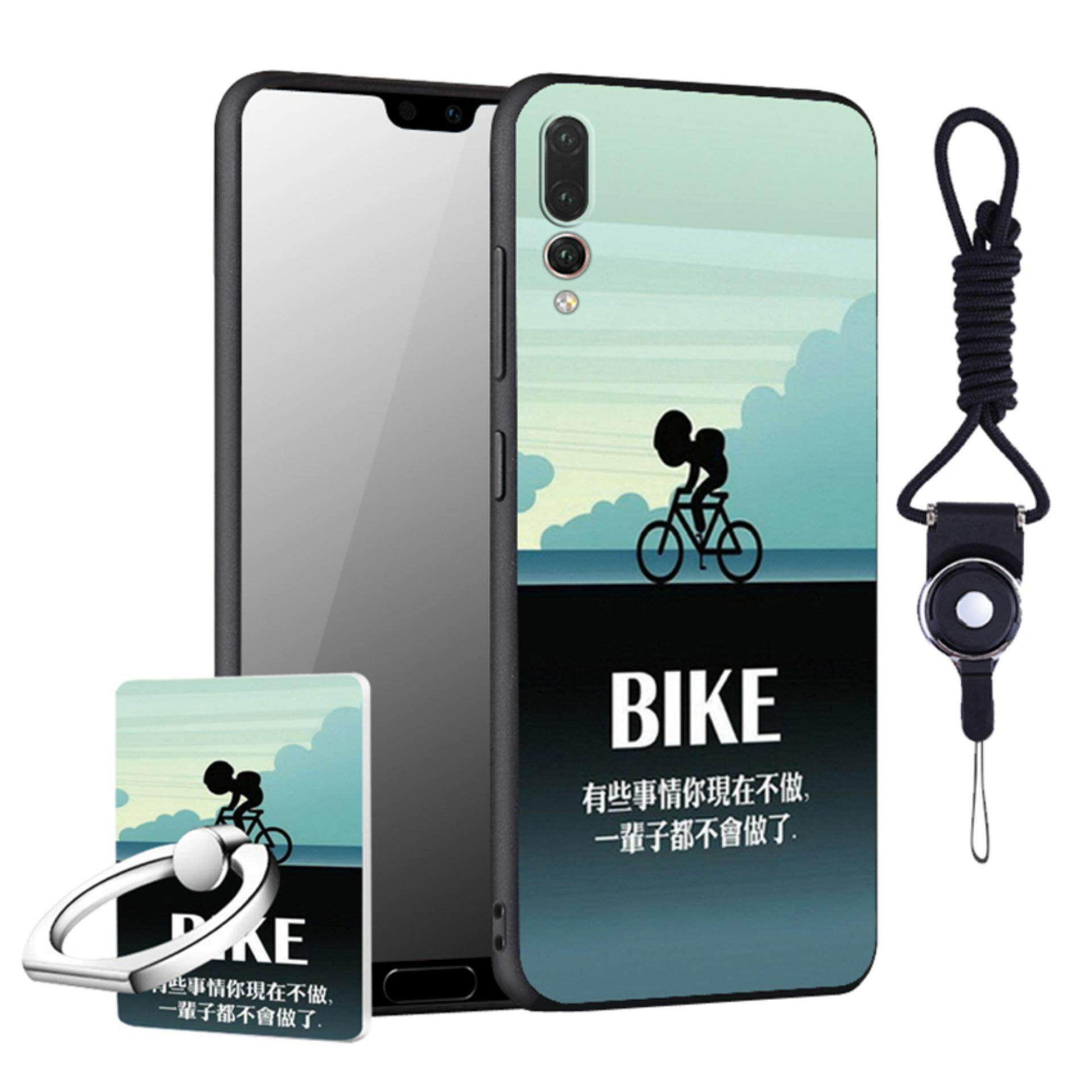 """For Huawei P20 Pro """"6.1"""" inch Cool Design Colored Paiting Soft TPU Silicone Back"""
