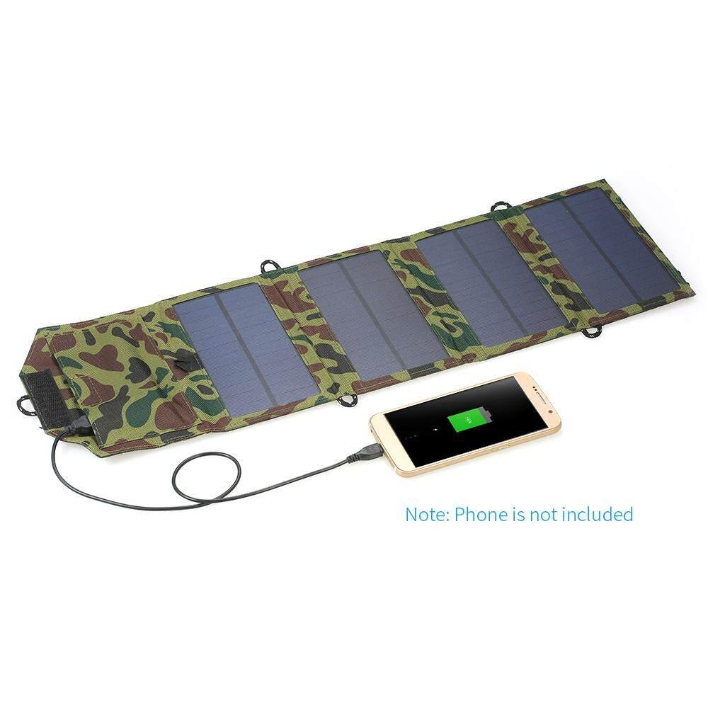 7 W 5 V USB Port Lipat Tenaga Surya Panel Pengisi Daya Luar Ruangan Pengisi Daya Baterai Portabel untuk I Telepon Ponsel-Internasional