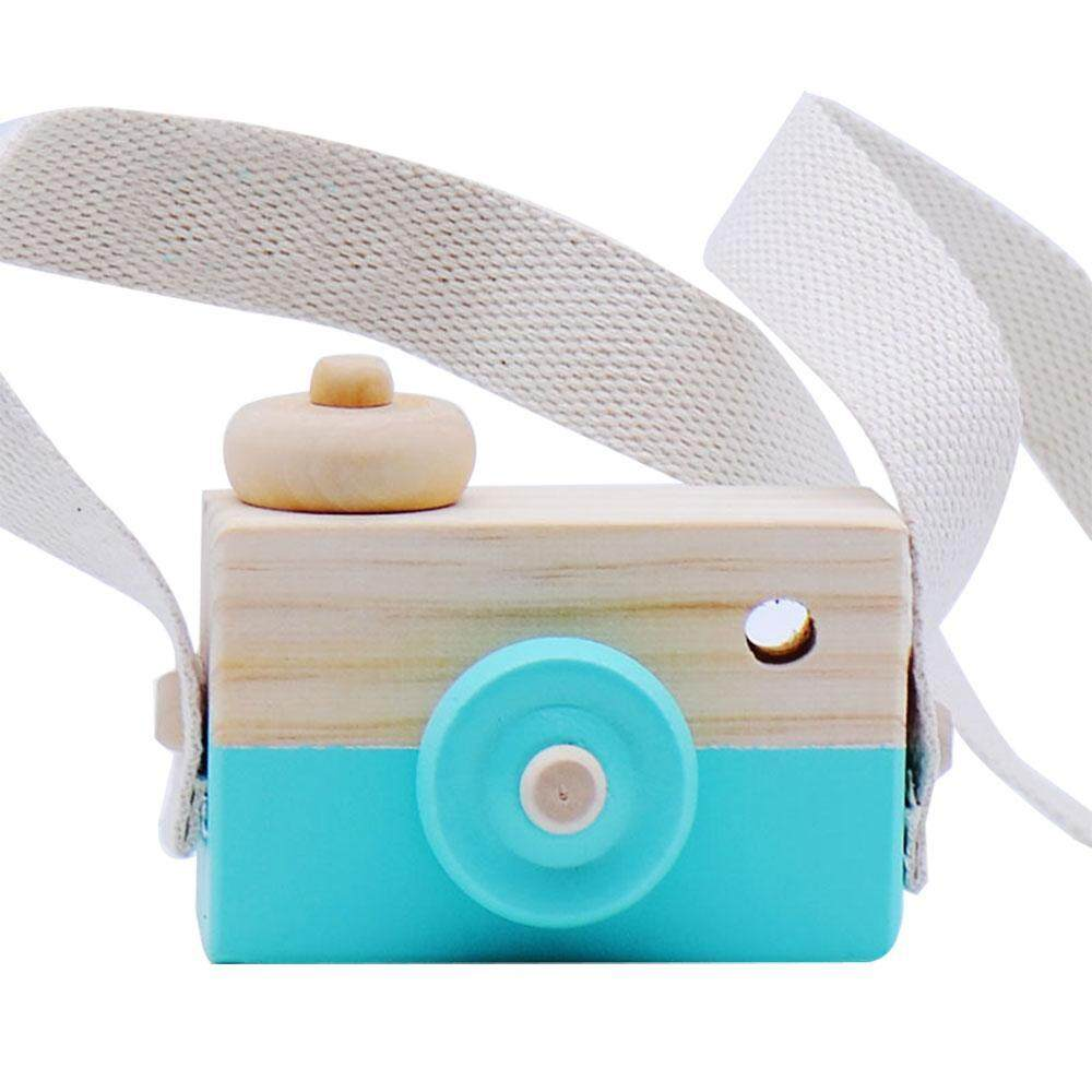 Hình ảnh leegoal Lovely Cute Wooden Cameras Toys For Baby Kids Room Decor Furnishing Articles Child Birthday Gifts Nordic Europea - intl