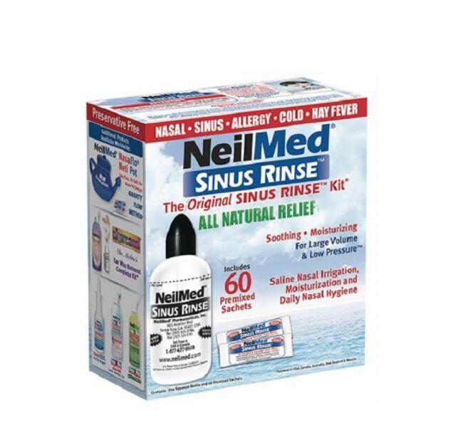 Neilmed Sinus Rinse Kit with 60 Premixed Sachets