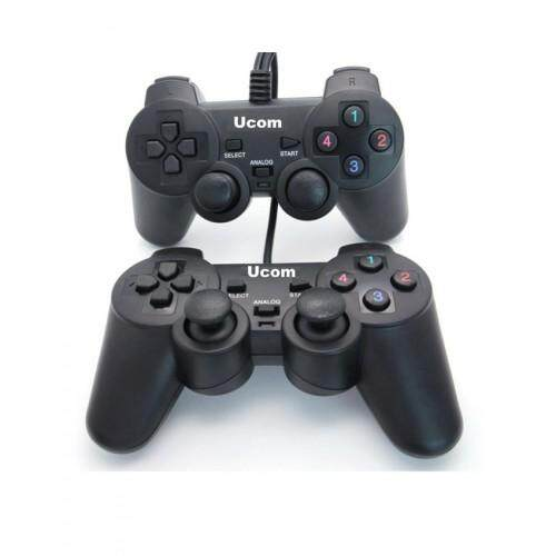 Double USB Gamepad Controller Joystick Vibration