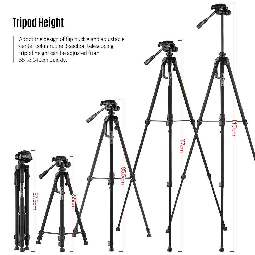 Buy Sell Cheapest A6955 Alloy Damp Best Quality Product Deals Tripod Yunteng Yt 880 Portable Aluminum With 3 Way Damping Head For Canon Nikon Sony Dslr