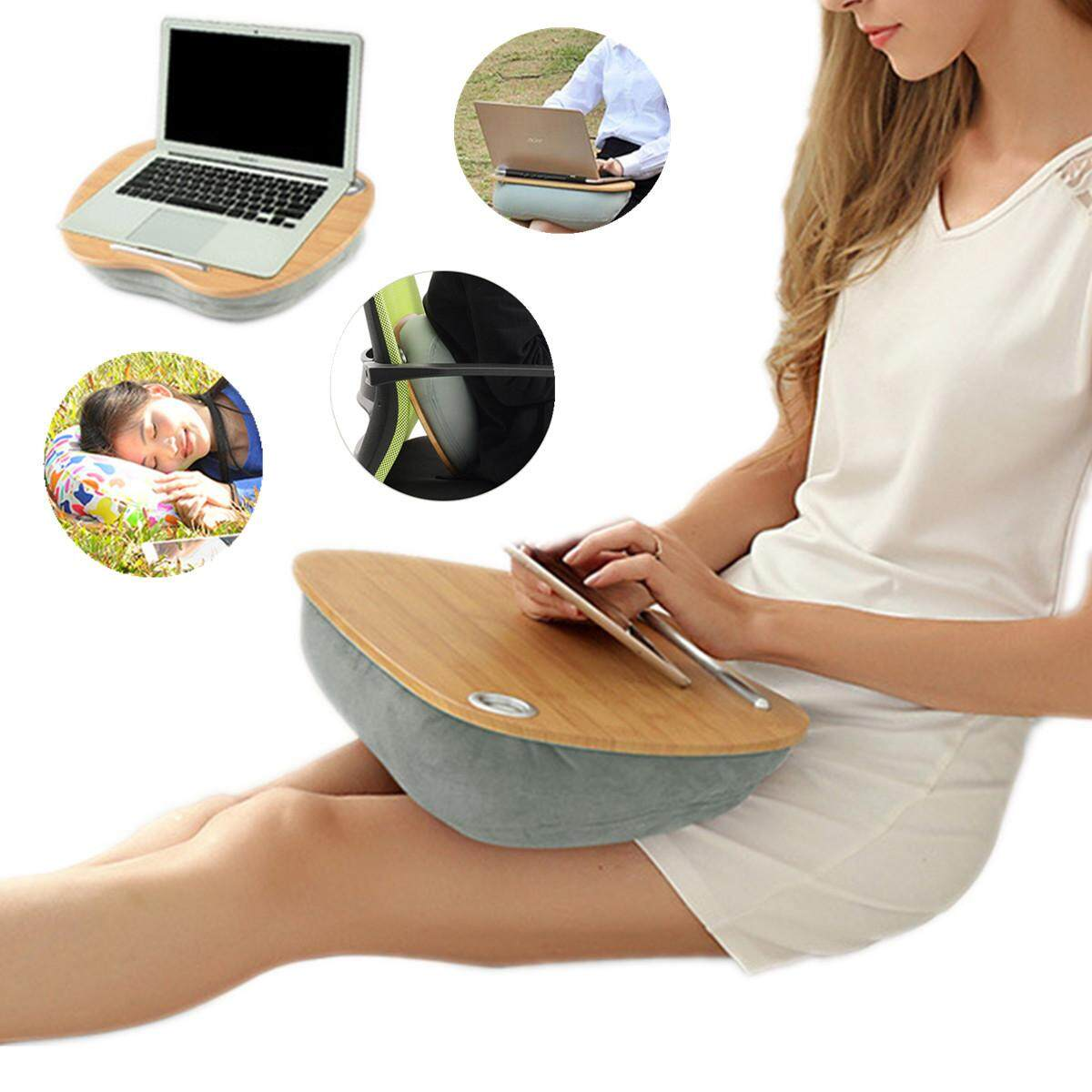 Multifunctional Lap Laptop Pillow Desk Tablet Notebook Table Stand Bed Sofa Tray Grey