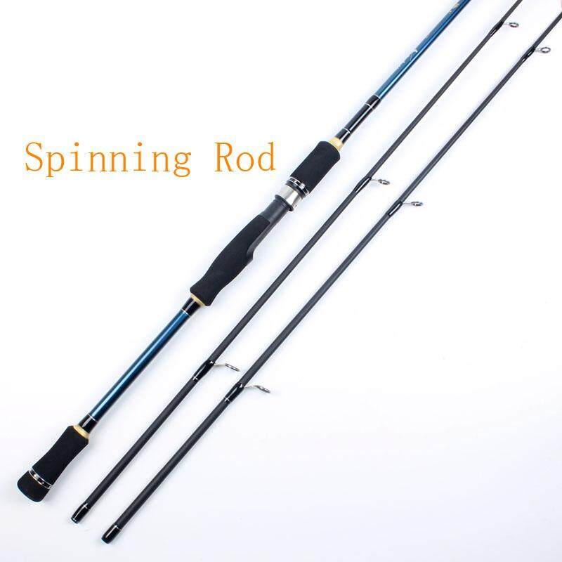 Detail Gambar 2.1/1.8 Meter Spinning bait casting Fishing Rod 2 tips M/ML Carbon Fiber Fishing rod Terbaru