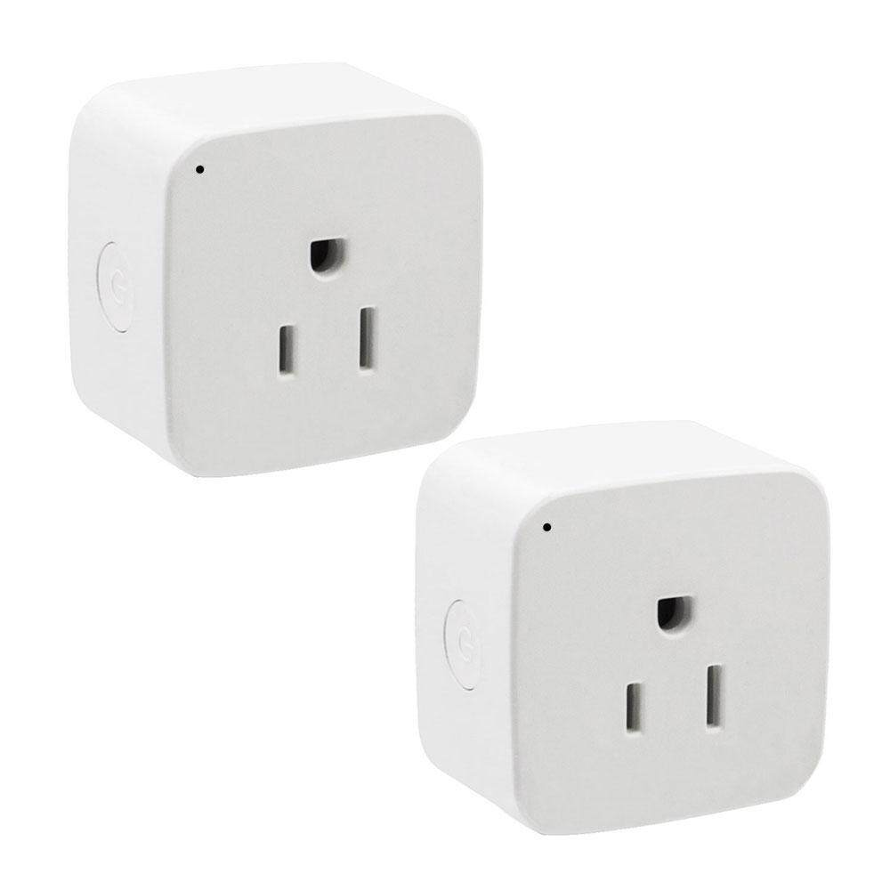 Womdee Two WiFi Smart Plug,Mini Smart Outlet Work With Amazon Alexa Google Home Remote Control By Smart Phone From Anywhere