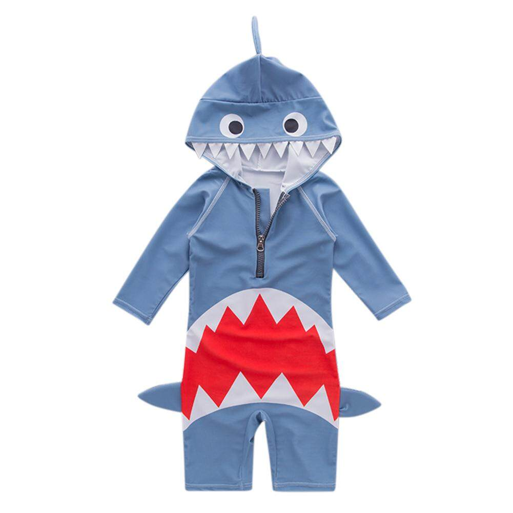 Kidlove Children Boy Cute Cartoon Shark Swimsuit Breathable One Piece Swimwear 1-6y - Intl By Wangwang Store.