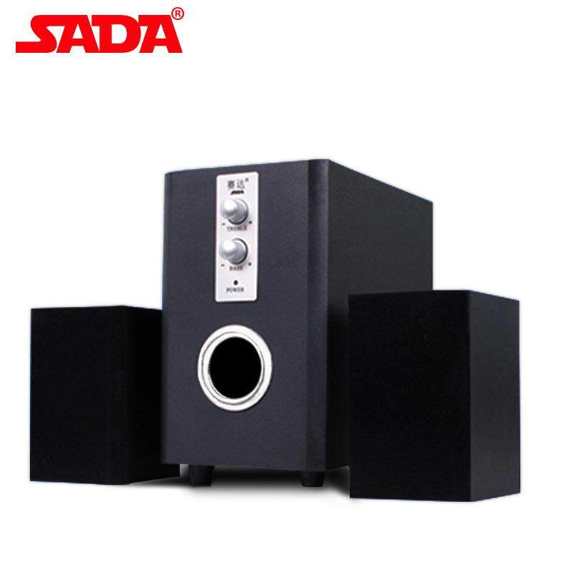 SADA D-200T Wood Surround Desktop Multi Media Subwoofer Stereo Heavy Bass PC Computer USB Wooden Speaker Speakers for Smartphone Malaysia
