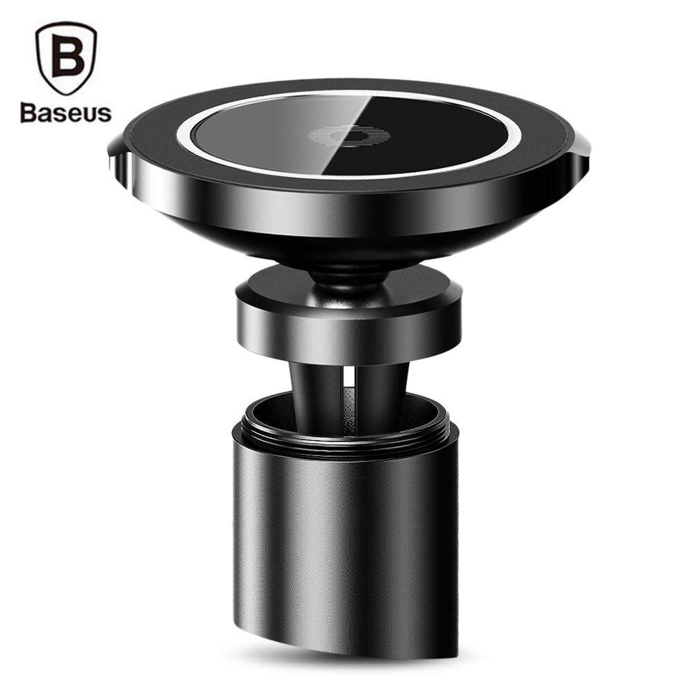 Price Comparison For Baseus Bswc 01 Big Ear Qi Wireless Charger Magnetic Car Mount Holder Clamp And Paste Stand For Iphone X 8 Intl