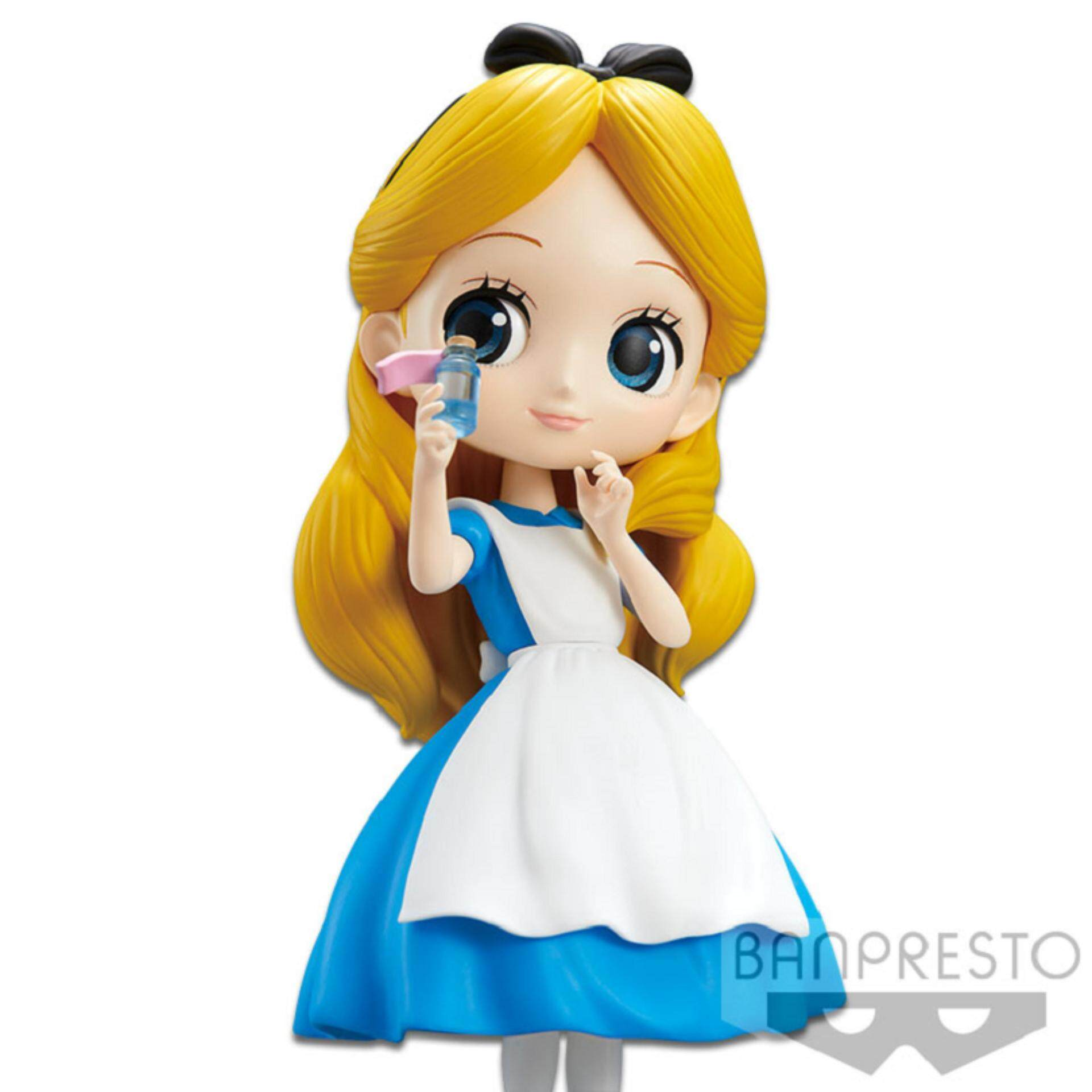 Banpresto Q Posket Disney Princess Figure Normal Version - Alice Thinking Time Toys for boys
