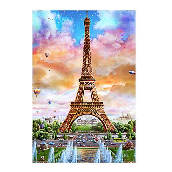 Fitur Handmade Diy 5d Diamond Embroidery Painting Of Eiffel Tower