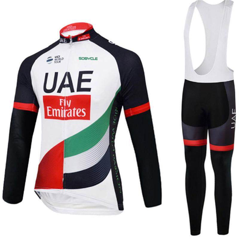 Spring Summer UV Protect Windproof Cycling Jersey Sets Road Bike Riding Suit Quick Dry Long Sleeve