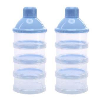 การตรวจสอบของ 2Pcs 4 Layers Portable Infant Baby Milk Powder Formula Dispenser Feeding Storage Case Box Container ซื้อ - มีเพียง ฿97.08
