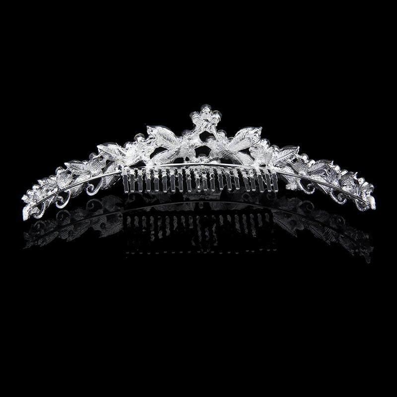 Bride Bridesmaids Wedding Party Tiara Rhinestone Crown Comb Pin - 5 .