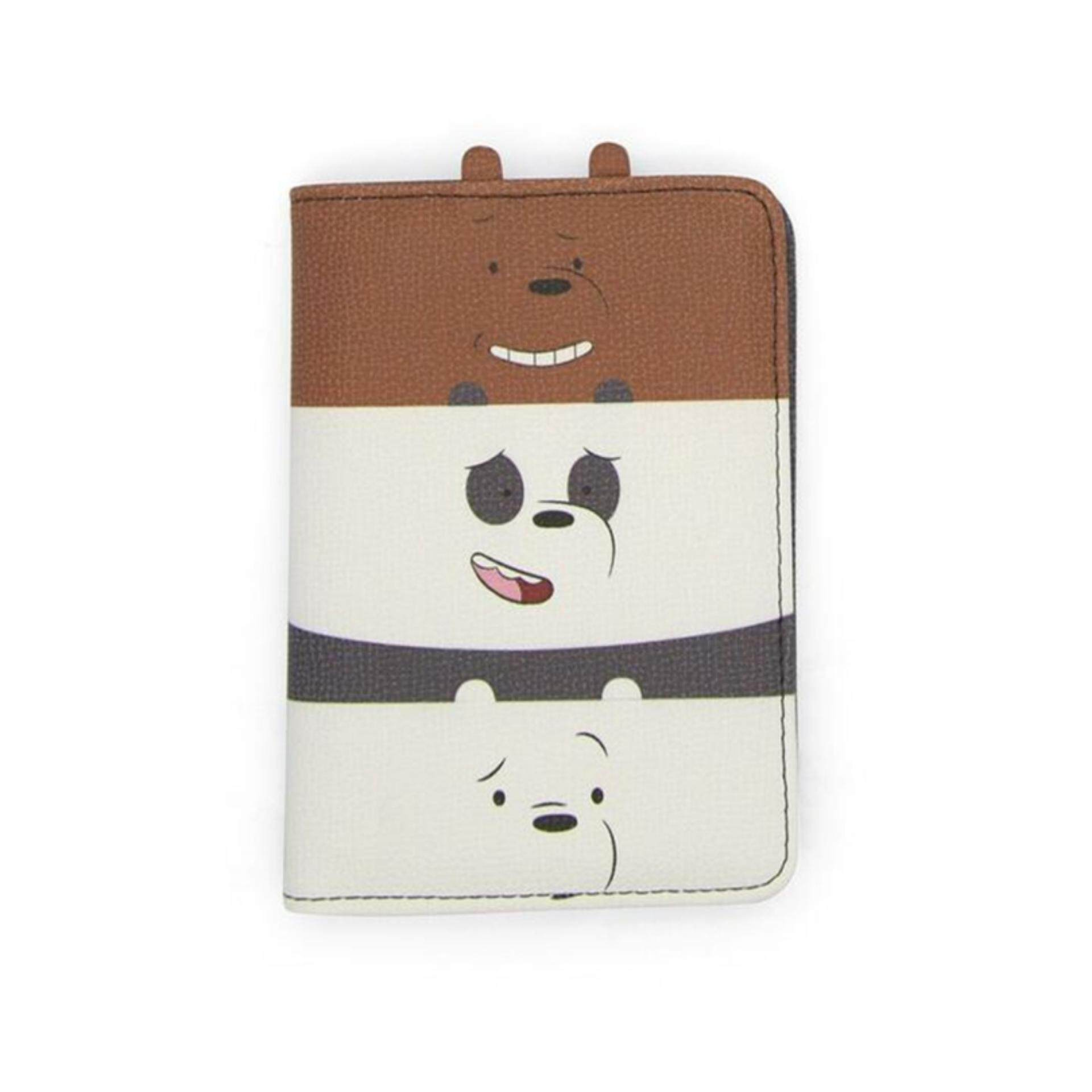 We Bare Bears Passport Holder - Multicolour