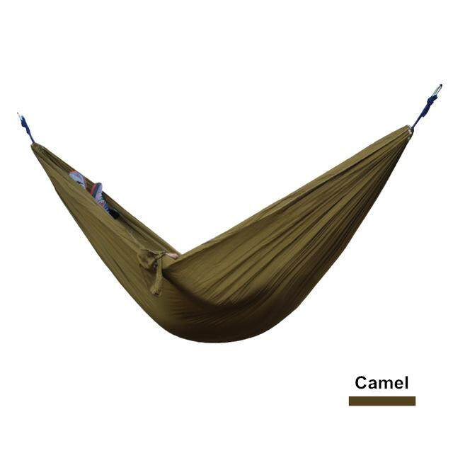 Outdoor Camping Hiking Double Hammock Sleeping Gear Parachute Camel By Glimmer.