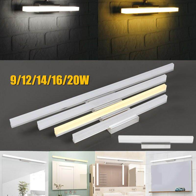 20W LED Modern Bathroom Wall Light Mirror Front Lighting Waterproof Antifogging Warm White - intl