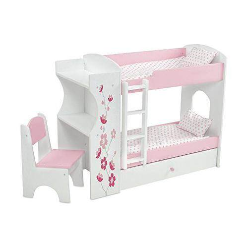 Svan Wooden Doll Bunk Bed And Bedding Fits American Girl Dolls And