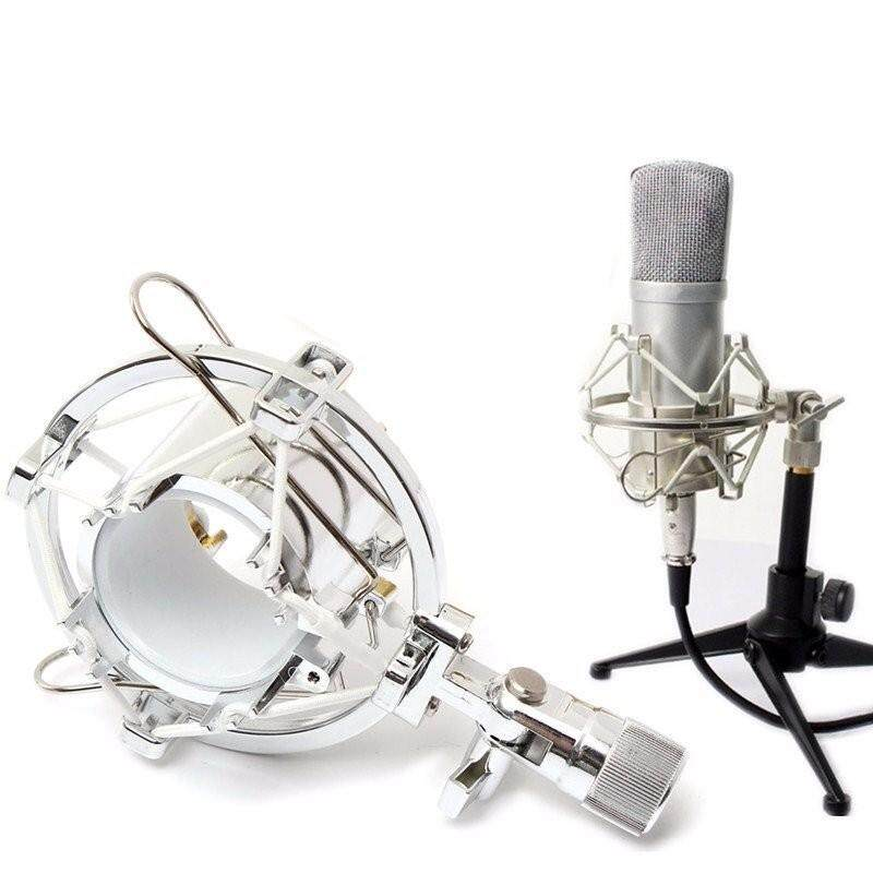 Universal Studio Radio Microphone Shock Mount Desktop Clip Holder Stand for Condenser Microphone - intl
