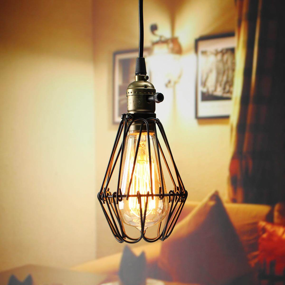 Industrial Retro Vintage Pendant Celling Light Bulb Hanging Lamp Shade Holder - Intl By Teamwin.